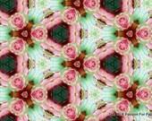 "Printable Paper Bead Sheet Mint & Pink Set A 8.5""x11"" paper"