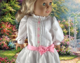"""Garden Party Pin-Tucked Party  Dress American Girl and other 18"""" dolls"""