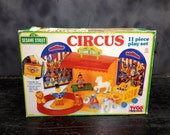 Vintage!! Sesame Street Circus 11 piece Play set VTG Henson Tyco (Complete set includes ORIGINAL BOX!!)