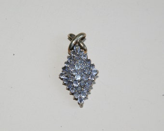 Vintage Light Tanzanite and Sterling Pendant - Over 6 Carat Total Weight - 1992