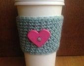 Crochet COFFEE COZY SLEEVE - great Back to School teacher gift!