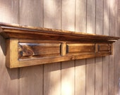Rustic firepleace mantel shelf