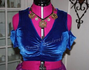 short  drop sleeve full back choli several colors