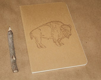 Wild West American Bison Buffalo Lined Journal