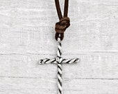 Twisted Cross Necklace - Faith Jewelry - Cross Jewelry - Handmade Jewelry- N643
