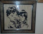 Custom portraits in wood
