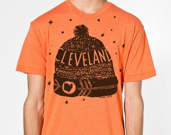 Cleveland Winter Hat Adult T-Shirt