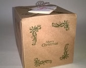 5 Merry Christmas Gift Boxes , Made to Order, Christmas, Thank You gift Box, UK Free Shipping