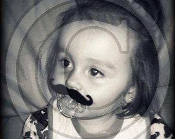 Mustache Pacifier-Baby Mustache-Little Man Party-Baby Shower gift-The Handlebar-Little Man-Baby gift-Mustache Pacifier-Mustache Party