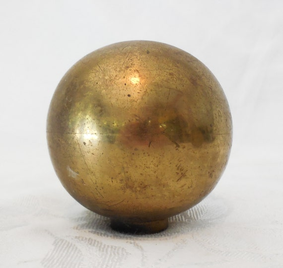 Large Brass Ball Finial Architectural Bannister Foot Or Hand