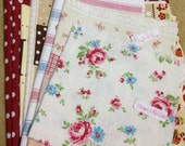 A Bundle Pack of Kawaii Cotton Linen Fabric Scrap (7 pcs)