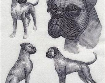 Custom Embroidered Boxer Dog Sweatshirt S-3XL