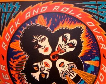 Kiss - Rock And Roll Over LP - 1976 - Casablanca NBLP 7037 - Vintage Vinyl LP Record Album