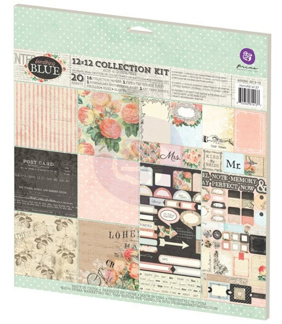 Prima - Something Blue Collection - 12x12 Paper Kit (814137)