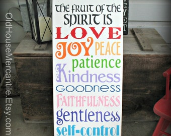 Fruit of the Spirit - Galatians 5 - Christian Art - Scripture - Inspirational - Motivational - Gift