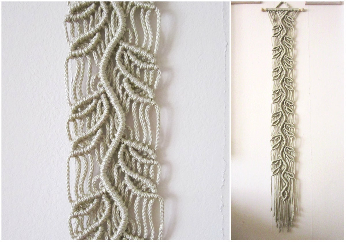 Macrame wall hanging sprig handmade macrame home decor for Wall hanging