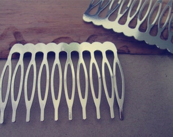 15 Pcs  36mmx 50mm (10teeth) White K Hair Combs