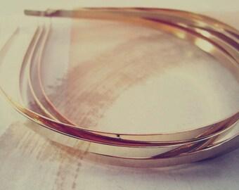 30 Pcs Gold color metal Headbands Bent Ends 5mm