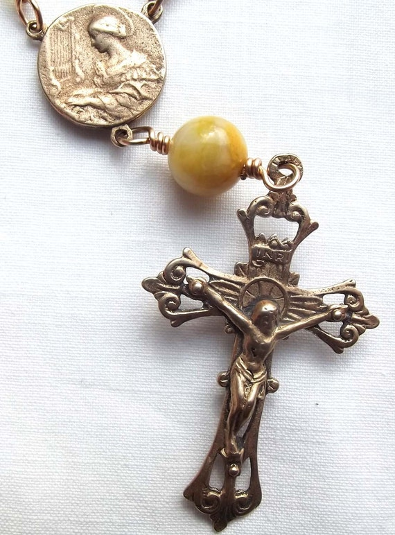 St. Cecilia Chaplet Rosary Niner Confirmation or Baptismal Gift