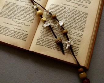 dangle key chain with BONES.snake vertebrae.