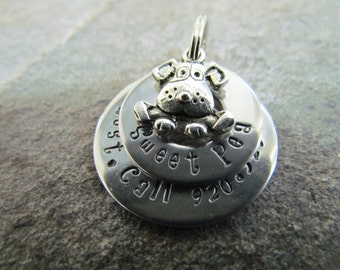 Rugged Stainless Steel Dog Tag - Washer Pet ID Tag - Custom Pet Tag - Stainless Pet Tag - Durable - Personalized - Pet Accessories - Unique