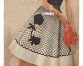 1950s Flower Overskirt for Poodle Skirt - Crochet pattern PDF 0711