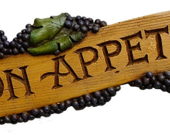 Italian Tuscan Kitchen Decor  Buon Appetito Sign
