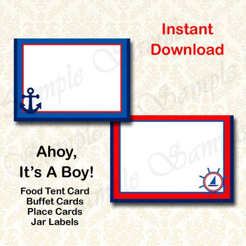 ahoy its a boy baby shower party decorations nautical tent