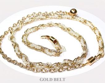 Gold Chain Metal Belt  for Dress Tunics Top etc.