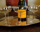 5 Vintage Champagne Coupe - Cocktail Glasses Vintage Set of 5
