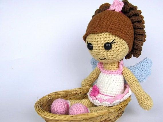 Amigurumi Angel Doll : Little Angel Girl Amigurumi Crochet Pattern / Doll Pattern