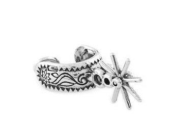 Sterling Silver Cowboy Spur Charm (3d Charm)