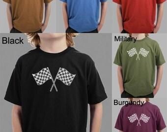 Boy's T-shirt - Created using list of NASCAR National Series Race Tracks