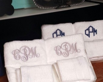 Gorgeous Monogrammed Towel Sets Free Shipping