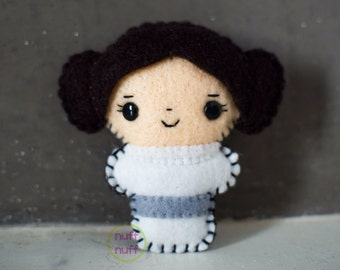 Felt Princess Leia - Pocket Plush toy