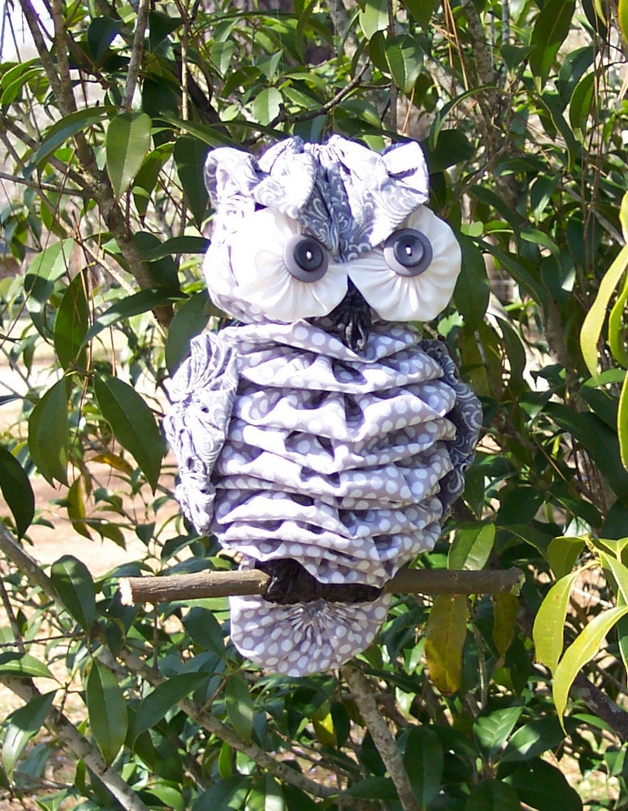 Fabric Yo Yo Owl By Anitabradshaw On Etsy