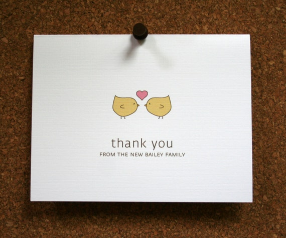 custom wedding stationery bridal shower thank you cards thank yous