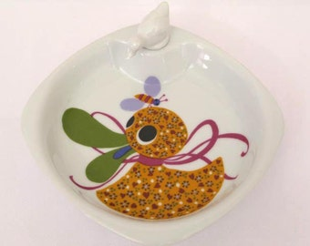 Baby Plate, Baby Warming Bowl, French Baby Plate, Baby Serving Dish, French Baby Bowl, Babies Dish, Babies Bowl, (170)