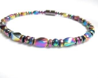 Magnetic Rainbow Hematite Bracelet