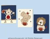 Football nursery art, art for boys room, art for nursery, Nursery football art, prints illustrations, boy nursery wall art,nursery prints