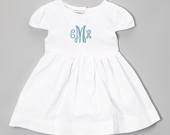 Aqua Monogram Dress