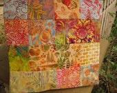 """14"""" x 14"""" Batiks Pillow COVER - 13 Vibrant Orange Saffron Sunflowers Garden Celebrate Sun Natural Elements Squares"""