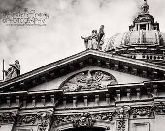 Instant Download London Photo Black and White, St Paul's Cathedral London, England professional print - Fine Art Photography Historical Art