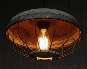 Lighting, Industrial Lighting, Chicken Feeder Light, Kitchen Lighting, Industrial Pendant Lighting, Hanging Lights, Pendant Lighting, Lights