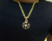"American Girl 18 "" inch SNOWFLAKE diamond pendant Gold tone chain Necklace Jewelry Accessories Bracelet"