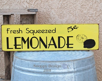 Fresh Squeezed LEMONADE Sign - Summer - Kitchen