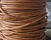 5 Yd 2MM Leather Cord Natural Western Brown Fine Round lace