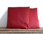 Burgundy pillow, elegant pillow cover, 16x16 inches, decorative pillows