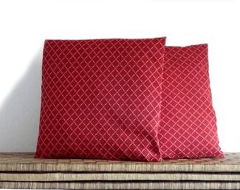 Burgundy pillow, elegant pillow cover, 16x16 inches, decorative pillows,OOAK