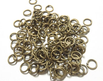 150 PCS - 7MM Jump Ring 18 Gauge Jewelry Finding Bronze C0702